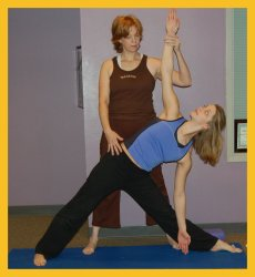 Private one on one session with Gail Pickens-Barger.  Alignment in Triangle Pose.