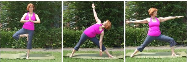 Three yoga poses for easing osteoporosis/osteopenia. Bone building yoga with Gail