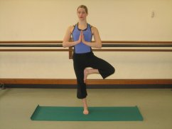 Tree, one of the 12 yoga poses for easing osteoporosis