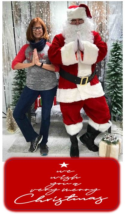 Merry Christmas from Gail & Santa