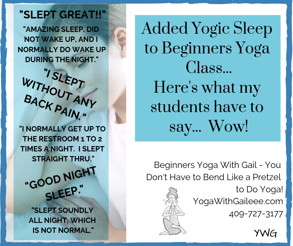Ah sleep – helped by Yogic Sleep, Yoga Nidra, iRest in Nederland, Texas