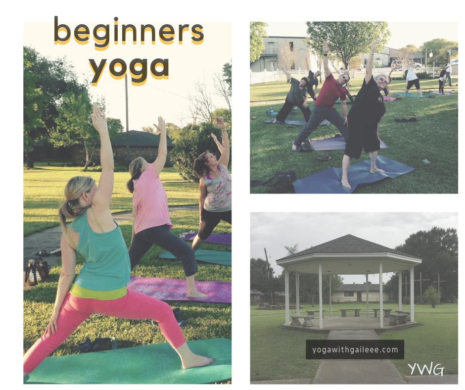 Yoga in the Gazebo in Wesley UMC's Prayer Garden, in Nederland, Texas