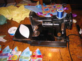 Singer Featherweight 221 Sewing Machine - Yoga Gear & Props Sewing. Yoga with Gail
