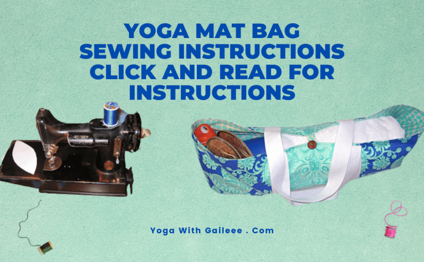 Yoga Mat Bag – sewinginstructions