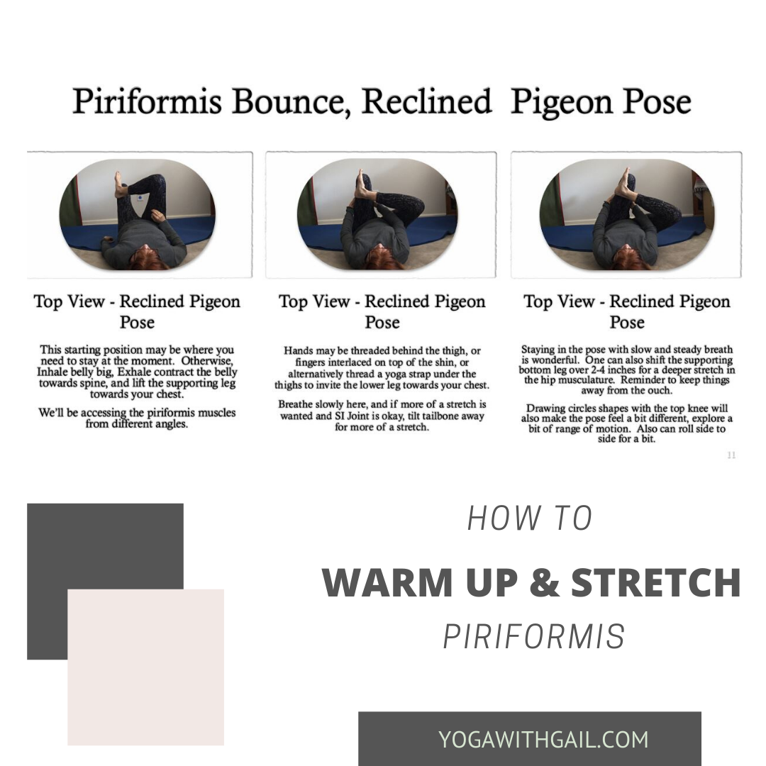 clinced Pigeon Pose - Warm up, Circulate, and Stretch the piriformis muscle. - It's Yoga!