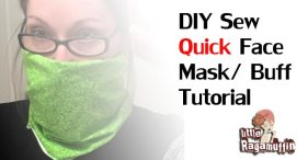Sew your own face mask / Buff / Gator Tutorial - Yoga with Gail