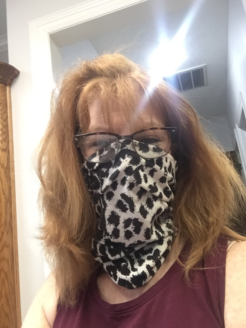 Gail and her original Buff from when she went to Mongolia