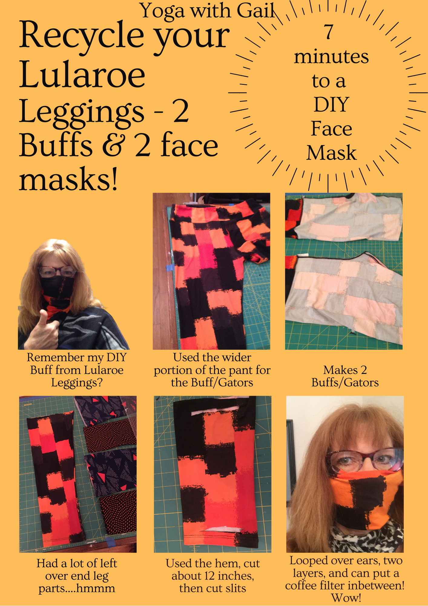 DIY Lularoe Leggings into face mask #2
