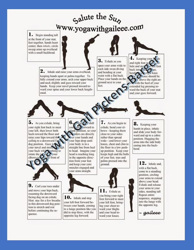 Salute to the Sun Yoga Pose Chart