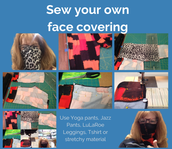 DIY, Sew your own face covering, buff, gator, neck cover, face covering mask.