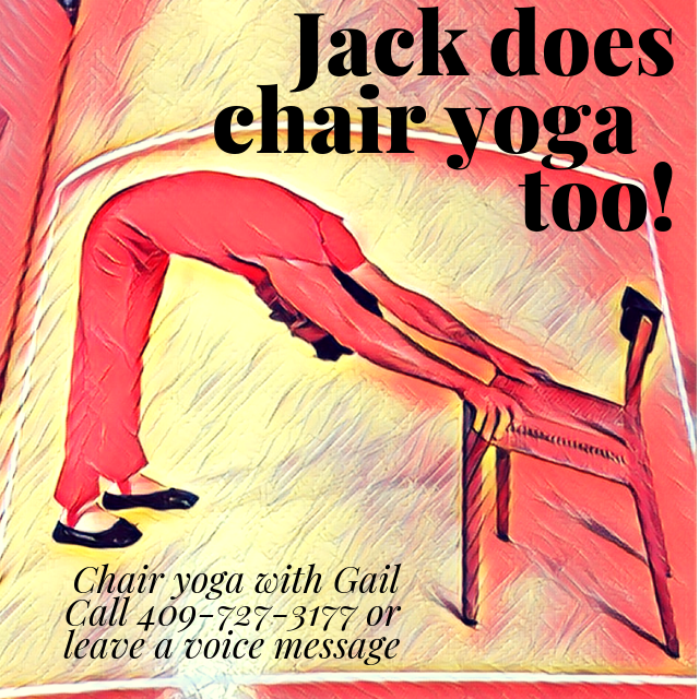 Found this in one of my vintage Jack LaLange Exercise Books! Jack does chair yoga too!