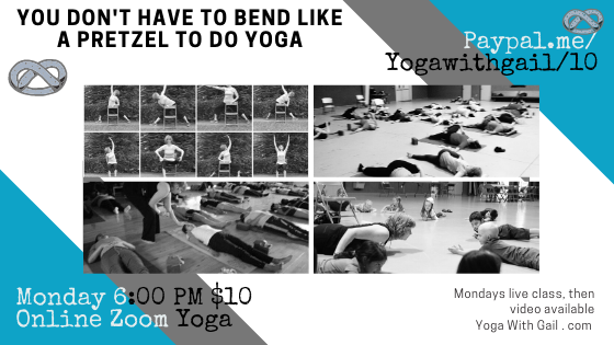 Teaching Online Yoga onMondays