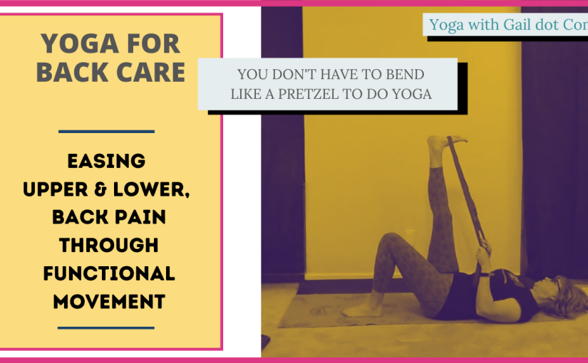 Yoga postures for easing backpain