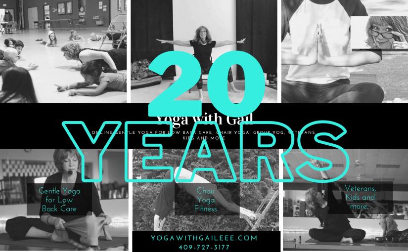 Teaching 20 years!  Yoga withGail
