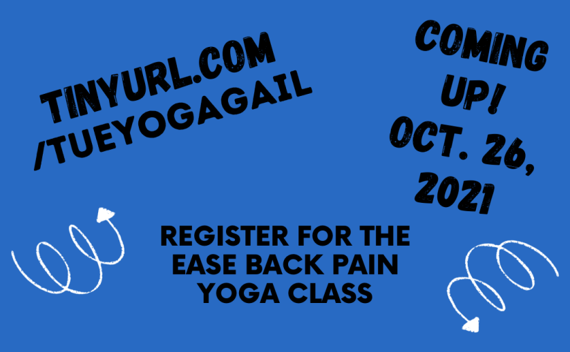 Register for this upcoming yoga class on October 26, 2021
