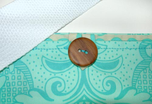 Hand Sew on the Button - Yoga Mat Bag Instructions - Yoga with Gail