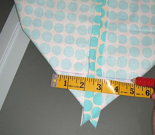 Measuring and Marking - Yoga Mat Bag Instructions - Yoga with Gail