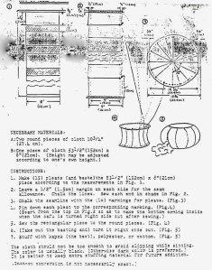 Old original meditation zafu instructions