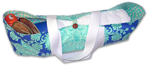 The Yoga Mat Bag Sewing Instructions.  Brought to you by Yoga with Gail