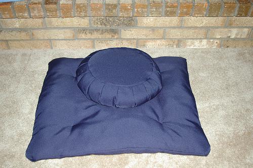 Zafu with a Zabutton meditation cushion